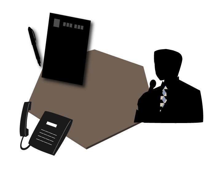 手紙と電話と話す人