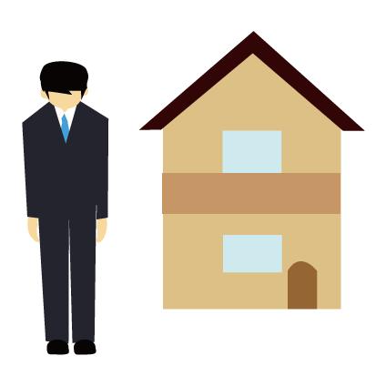 家の敬語のイメージイラスト
